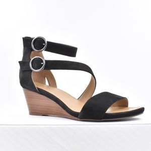 Franco Sarto Black Suede Sandals